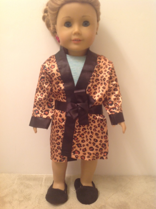 Trendy Doll SALE: $5.50 American Girl Doll Leopard Robe and Slippers. Limited Qtys